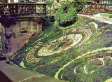 Floral Clock in Princes Street Gardens, 1972