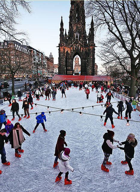 Ice Rink in East Princes Street Gardens  -  Christmas 2013