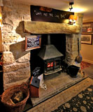 The Hawes Inn, Queensferry, Fireplace  -  May 2013