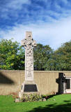 Roseburn Cemetery, Pilrig,  Edinburgh  -  Memorial to those who died in the Royal Scots troop train disaster near Gretna in 1915