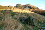 Holyrood Park  Looking to the west near St Leonard's -  Is this the Slidey Stane?  No.