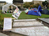 Anti-Capitalist Protest at St Andrew Square Gardens, 2011