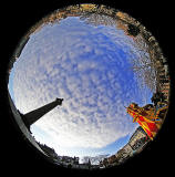 Fisheye view  -  Looking up from St Andrew Square, Edinburgh  -  November 2014