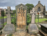 Three gravestones at St Margaret's Church, Restalrig