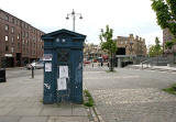 Police Box in the new developments at Tollcross, Edinburgh