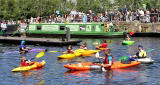 Edinburgh Canal Festival, 2013  -  Canoes in the canal basin at Edinburgh Quay
