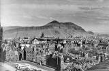 Looking to the SE from Edinburgh Castle, over Edinburgh Old Town towards Arthur's Seat  -  around 1960