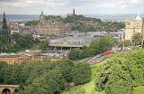 View over Edinburgh looking to the north from Edinburgh Castle  -   August 2007