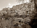 Loking downstreeam along the Water of Leith, beside Hawthornbank Lane, Dean