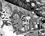 Dobbies Stand at the Flower Show at  Waverley Market - 1955
