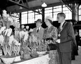 Opening of the Flower Show at  Waverley Market by Sir James and Lady Horlick - 1957