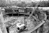 Demolition of the western end of Waverley Market Roof - 1982