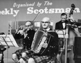 Three Musicians at 'This Scotland Exhibition' at Waverley Marketm, 1959