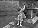 Where was this photograph of a drinking fountain taken in 1955?