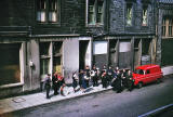 Where is it?  Salvation Army playing probably somewhere in Edinburgh Old Town, 1964