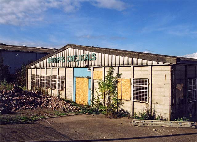 Edinburgh Waterfront  -  Sheriff's Chemicals, West Shore Road  -  6 October 2002