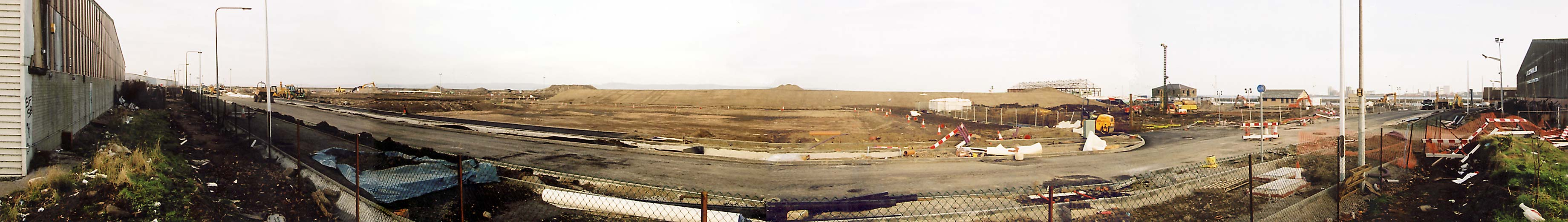 Panoramic View of Granton Western Harbour  -  December 2003