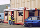 Edinburgh Waterfront  -  Derek's Place, selling hot and cold food, close to the entrance to Middle Pier, Granton Harbour  -  12 August 2005