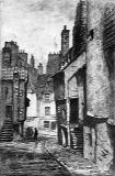 Sketch by Reginald P Phillimore - High School Wynd