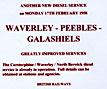 Edinburgh History - 1958  -  Adverts for the introduction of new diesel services  -  Waverley, Peebles and Galashiels