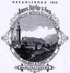Detail from an advert in the Edinburgh & Leith Post Office Directory  -   1867  -  Ritchie & Son, with a view from Calton Hill