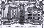 Detail from an advert in the Edinburgh & Leith Post Office Directory  -  1864  -  Royal Insurance Company, 13 George Street