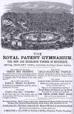 Advert in the Edinburgh & Leith Post Office Directory  -  1868  -  Royal Patent Gymnasium, Royal Crescent Park