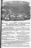 Advert in the Edinburgh & Leith Post Office Directory  -  1870  -  Royal Patent Gymnasium, Royal Crescent Park