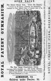 Advert in the Edinburgh & Leith Post Office Directory  -  1871  -  Royal Patent Gymnasium, Royal Crescent Park