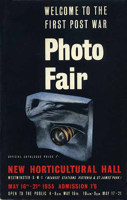 Advert for Photo Fair 1955, held at Royal Horticultural Hall, London