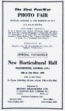 Catalogue for Phot Fair at Horticultural Hall, London  -  1955