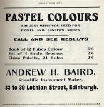A H Baird Advert  -  April 1910