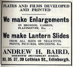A H Baird Advert  -  June 1910