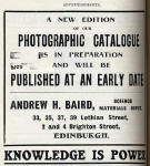 A H Bird Advert  -  April 1912