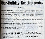 A H Baird Advert  -  October 1913