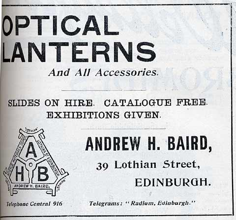 A H Baird Advert  -  December 1913