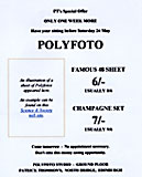 Advert for Polyfotos at Patrick Thomson's, North Bridge, close to the junction with the High Street