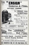 Photographic Dealers  - A H Baird  -  Adverts in his journal, Photographic Chat  - 1903  -  Ensign, Camera and Films