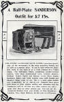 Photographic Dealers  - A H Baird  -  Adverts in his journal, Photographic Chat  - 1904  -  Sanderson Half-Plate Camera
