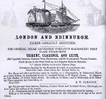 Advert om the Edinburgh & Leith Post Office Directory  -  1853  -  General Steam Navigation Co