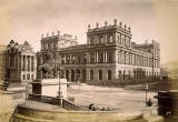 The General Post Office from the steps of Register House  -  Photograph by Valentine taken before 1871