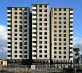 Gracemount High Rise  Flats, SE Edinburgh  -  October 24, 2009 - One day before Demolition