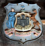 Granton Gas Works Station - Large cast iron Coats of Arms  -  Edinburgh