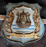 Granton Gas Works Station - Large cast iron Coats of Arms  -  Leith