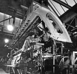 View of workers and machinery inside United Wire Works, Granton Park Avenue, Granton
