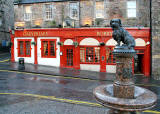 Greyfriar's Bobby - Statue at The Bridges and Pub at Candelmaker Row