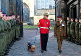 Guard of Honour for Layiing the Wreath Ceremony at Greyfriars Bobby's Tombstone