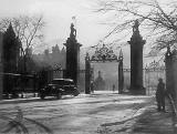 Photograph by Norward Inglis  -  Holyrood Palace Gates, at the foot of the Royal Mile