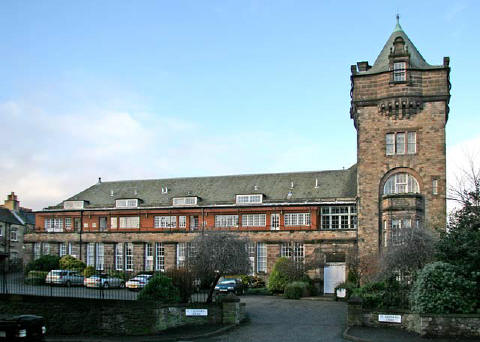 The former James Clark's School, beside Holyrood Park - now converted to housing
