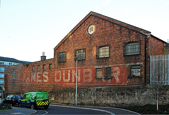 James Dunbar's former Lemonade Works, Albion Road, Edinburgh  -  Photographed September 2013